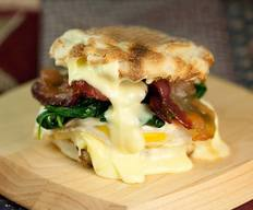 Bacon Egg Sammie W/ Spinach & Brie!