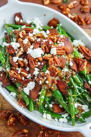 Maple Dijon Green Beans W/ Bacon!
