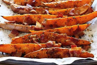 Bacon Bourbon Sweet Potato Wedges!