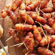 Sugared Bacon Wrapped Smokies!