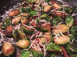 Bacon Parmesan Brussels Sprouts!