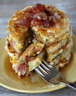 Bacon & Corn Griddle Cakes!