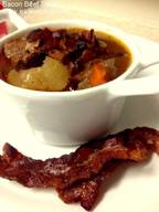 Slow Cooker Bacon Beef Stew!