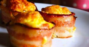100 Calorie Bacon Egg Cups!