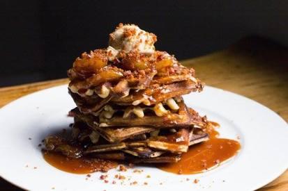 Malted Waffles W/ Bacon!