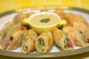 Avocado & Bacon Egg Rolls!