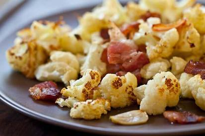 Roasted Bacon Cauliflower!