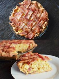 Mac & Cheese Bacon Lattice Pie!