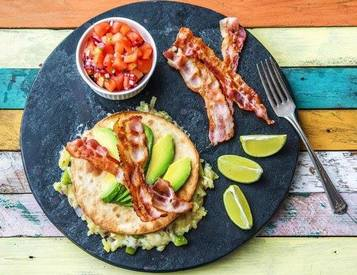 Bacon Breakfast Quesadilla Stacks!