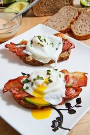Poached Egg On Bacon & Toast!