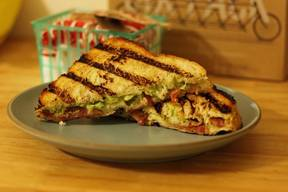 Guacamole & Bacon Grilled Cheese Panini!