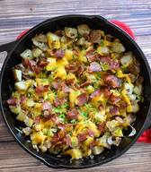 Cheesy Bacon Home Fries!