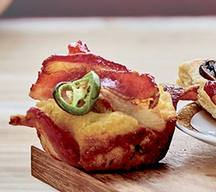 Cheesy Jalapeno Bacon Corn Muffins!