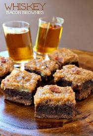 Whiskey Bacon Brownies!
