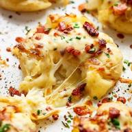 Cheesy Bacon Smashed Potatoes!
