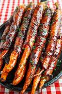 Maple Glazed Bacon Wrapped Carrots!
