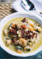 Bacon Fish & Shrimp Chowder!