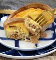 Bacon & Egg Tortilla Shell Quiche!