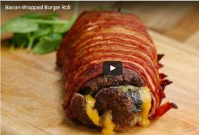 Bacon Wrapped Burger Roll!