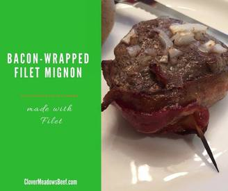 Bacon Wrapped Filet Mignon!