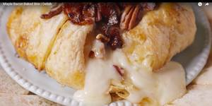 Maple Bacon Baked Brie!