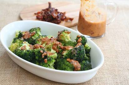 Broccoli W/ Bacon & Sun Dried Tomato Vinaigrette!