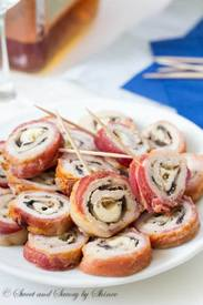 Bacon Wrapped Pork Roll Ups!