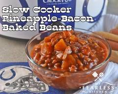 Pineapple Bacon Baked Beans!