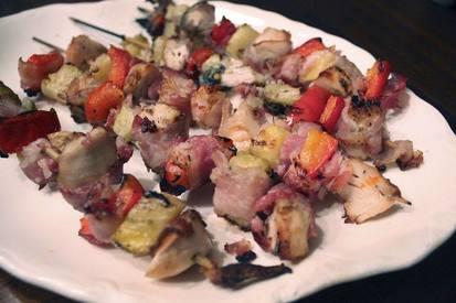 Bacon Pineapple Chicken Kabobs!