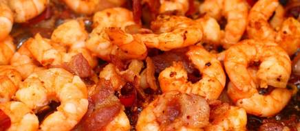 Bacon & Red Pepper Shrimp!