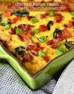Chicken Bacon Ranch Spaghetti Squash Casserole!