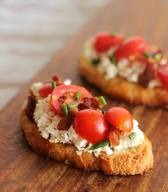 Bacon Tomato Garlic Bruschetta!