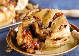 Bacon Caramel Glazed Sticky Buns!