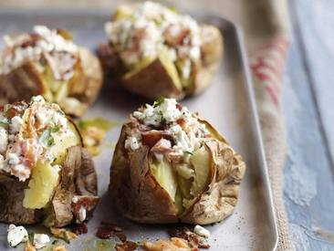 Jacket Potatoes W/ Bacon & Salmon!