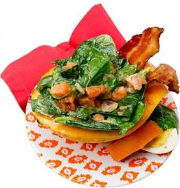 Papaya & Bacon Spinach Salad!