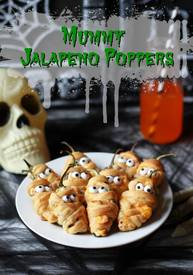 Mummy Bacon Jalapeno Poppers!