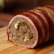 Bacon Wrapped Cheesesteak Meatloaf!