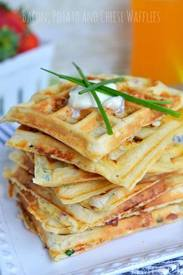 Bacon Potato Cheese Waffles!