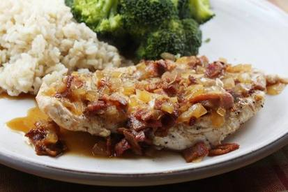 Chicken W/ Cider & Bacon Sauce!