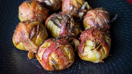 Bacon Wrapped New Potatoes!
