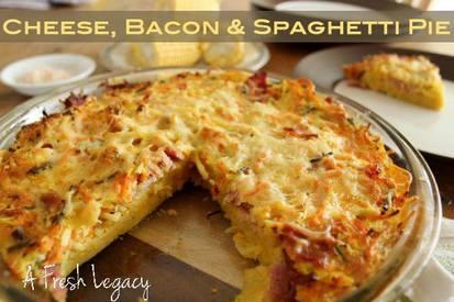 Cheese Bacon & Spaghetti Pie!