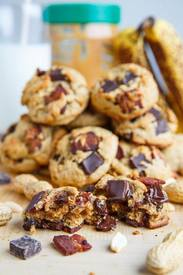 Pb Banana Chocolate Chip Bacon Cookies!