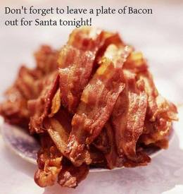 Don't Leave Out Cookies-… You Know Santa Is A Bacon Addict :)
