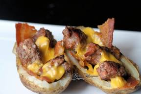 Bacon Cheeseburger Potato Skins!