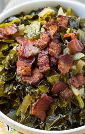 New Years Collard Greens With Bacon!