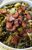 New Years Collard Greens With Bacon!