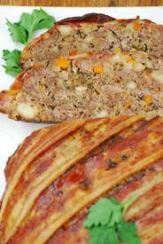 Bacon Wrapped Cheddar & Stout Meatloaf!