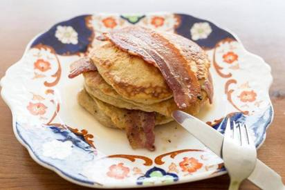 Buttermilk Bacon Pancakes!