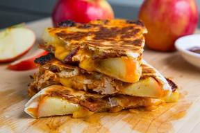 Bbq Bacon Apple Cheddar Quesadilla!