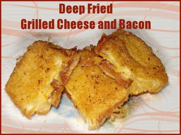 Deep Fried Grilled Cheese & Bacon!